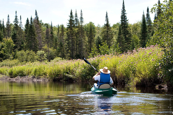 Paddling on the East Branch of the St. Regis